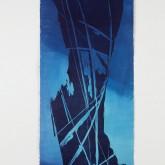 EMOZIONI BLU - Xilografia su carta di riso stampata dall'artista - Esemplare unico - cm 97 x cm 42 - 2005