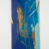 EMOZIONI BLU – Xilografia su carta di riso stampata dall'artista – Esemplare unico – cm 97 x cm 42 – 2005