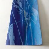 PAGINA DI CIELO - Xilografia e interventi in foglia oro e pigmenti ad effetto su piallaccio di betulla - Esemplare unico - cm 50 x 30