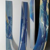 GLI ALBERI CELESTI - Xilografie e interventi in foglia oro, rame e argento - Esemplari unici su piallacci di diverse essenze - cm 240 x 35 -  2011