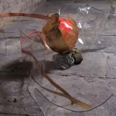 SOGNI CURVI TRE - SOGNI CURVI DUE - Metacrilato termoformato a mano con interventi pittorici e in foglia oro - 2009
