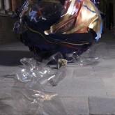 SOGNI CURVI UNO - Metacrilato termoformato a mano con interventi pittorici e in foglia oro - Diametro sfera cm. 130 - 2009