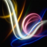 Sinfonie Cosmiche n. 5 - Luminogramma - Fine Art Inkject Pigment Print  su carta di cotone Hahnemuhle William Turner Matte 310 g  cm 90 x 90
