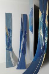 GLI ALBERI CELESTI - Xilografie con interventi in foglia oro, rame e argento - Esemplari unici su piallacci di diverse essenze - cm 240 x 35 -2011