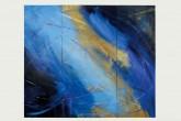 L'UNIVERSO DENTRO - Trittico - Tempera su tavola di legno con pigmenti naturali e sintetici - interventi materici e foglia oro - cm 175 x cm 205 - 2005