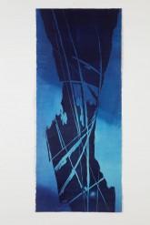 EMOZIONI BLU - Xilografia su carta di riso stampata dall'artista - Esemplare unico - cm 97 x 42 - 2005
