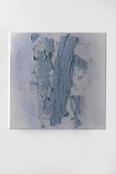 SEGNO DI CIELO - Tempera con pigmenti ad effetto + paste materiche su tela di cotone - cm. 40 x 40 - 2011