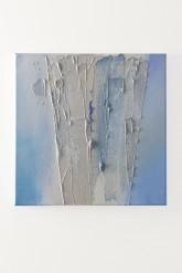 CHIAREZZA - Tempera con pigmenti ad effetto + paste materiche su tela di cotone - cm. 40 x 40 - 2011