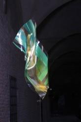 LULIN – Metacrilato termoformato a mano con interventi pittorici e in foglia oro – 2009