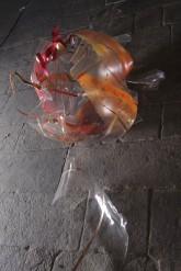 SOGNI CURVI QUATTRO - Metacrilato termoformato a mano con interventi pittorici e in foglia oro - 2009
