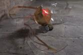 SOGNI CURVI  TRE – Metacrilato termoformato a mano con interventi pittorici e in foglia oro – Diametro sfera cm. 25 - 2009