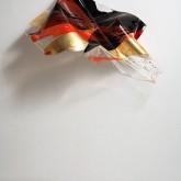 SINTHESYS - Metacrilato termoformato a mano con interventi pittorici e in foglia oro – 2004