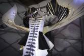 VANITA' – Frassino supportato, tulle, raso, foglia oro, stampa inkjet UV, interventi a mano + luce 2011