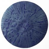 IMPLOSIONE - Xilografia su legno di filo, stampa con inchiostri  ad effetto - 2012