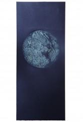 SOSPENSIONE - Calcografia con paste materiche, stampa con inchiostri ad effetto - raggio cm. 8 - 2012