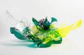 Insalata-mista - Plexiglass termoformato dall'artista + foglia oro e interventi pittorici  2013 - cm. 110 x 60 x 45
