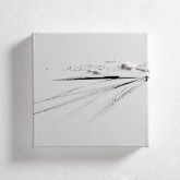 ACCENTI UNO - Inchiostro di china e paste materiche su tela- 2014 - cm 20 x 20