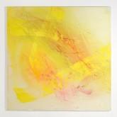 YELLOW - Tempera con pigmenti preparati dall'artista + paste materiche - cm 100x100