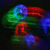 RGB/ Gli infiniti colori della notte – Luminogramma – Light box - Stampa digitale su plexiglass - cm 30 30